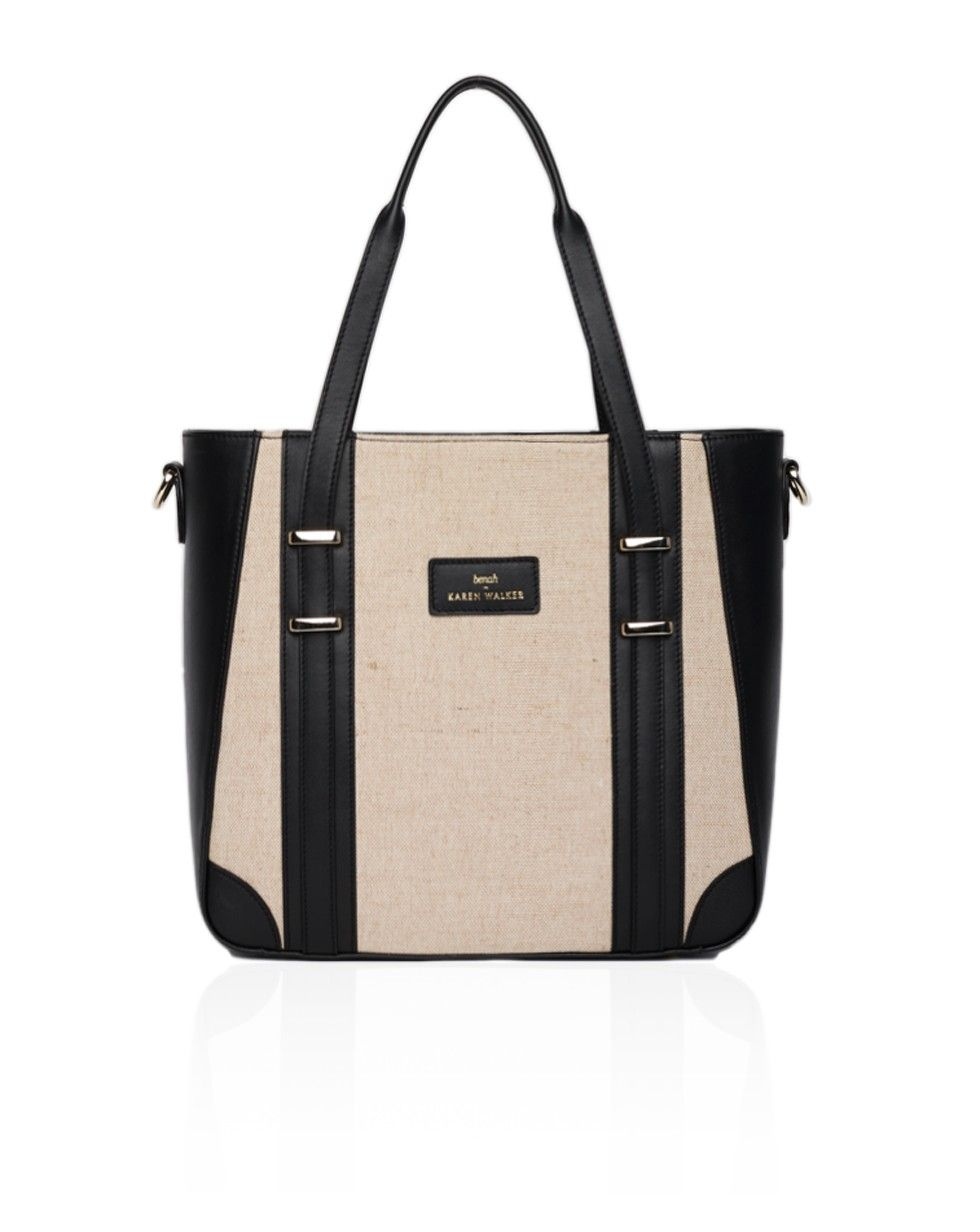 71ca992e949d Veronica Shopper in Black Canvas by Benah for Karen Walker at  www.preciouspeg.com