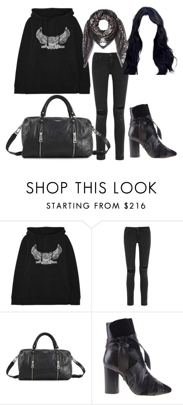 """Meilleure amie"" by somethingsocool ❤ liked on Polyvore featuring Maje, rag & bone, Zadig & Voltaire and Isabel Marant"