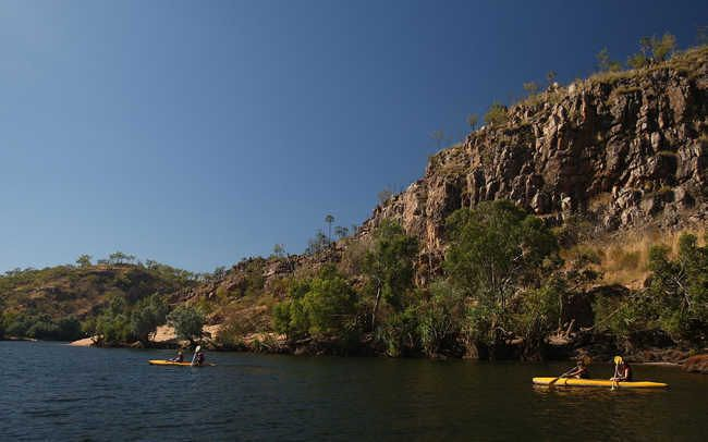 Many backpackers and outdoor enthusiast come to Katherine Gorge in Northern Territory, Australia. Its expansive waterways and miles of trails over diverse land provide visitors with the spectacular landscape of Australia. Most start their exploration in Darwin, Australia, the capital of the Northern territory.