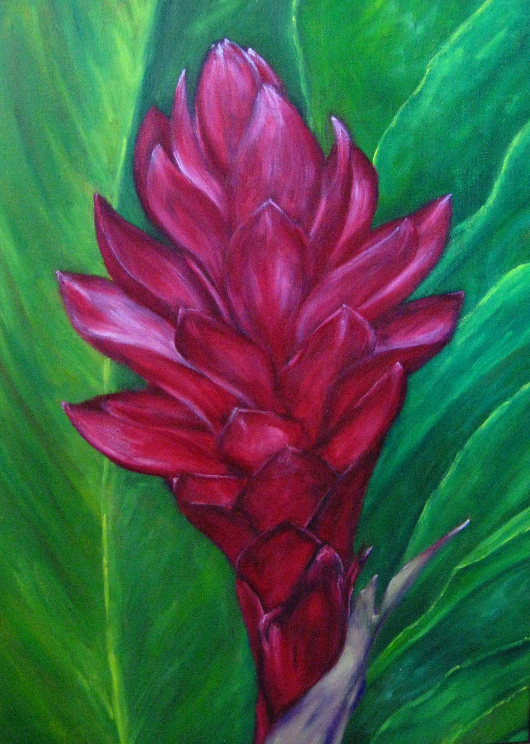 Pin By Lisa Shiroma On Flower Paintings Flower Canvas Flower Painting Painting