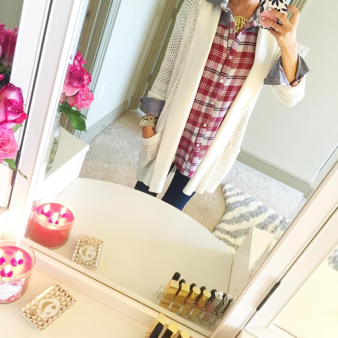 It's currently pouring rain outside so I'm baking cookies & lighting fall candles...  Outfit details here: www.liketk.it/1GHnH #liketkit #lazysunday #sundayfunday #fallcandlesareback #cozy #ootd #vanity