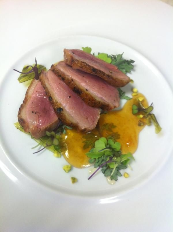 Beautiful Maple Leaf Farms Duck Breast Dish from Cerulean