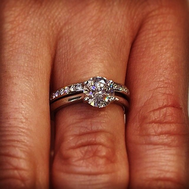 Diamond set wedding band and engagement ring set Our designs