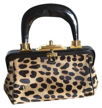 Roberta di Camerino Leopard Print Pony Hair Bagonghi ICONIC!!!  I am fascinated by her bags. Absolute works of ART! I can't stop looking. I want one.