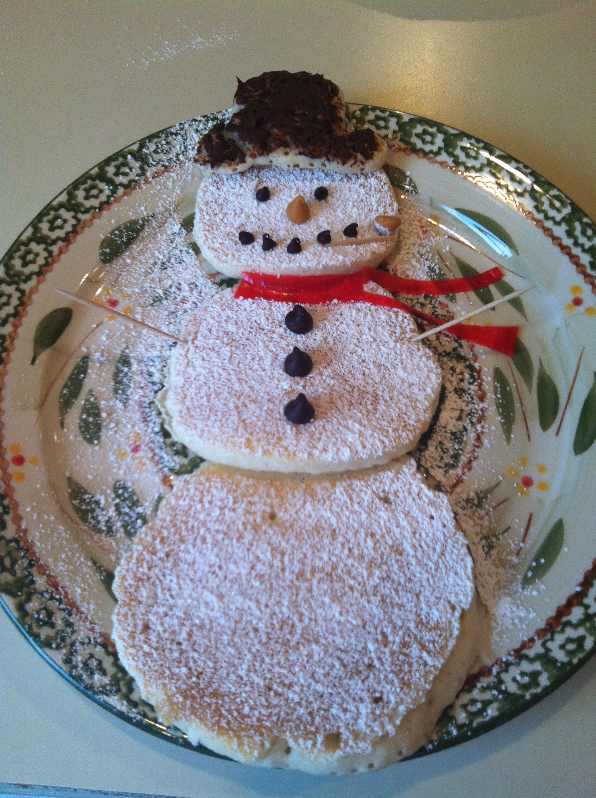 My Son Wanted Me To Make Frosty The Snowman Pancakes