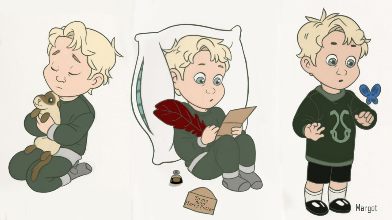 A Little Draco Malfoy Cause I Have A Thing For Drawing My Favorite Characters As Kids It S My W Draco Malfoy Fanart Harry Potter Artwork Harry Potter Fan Art