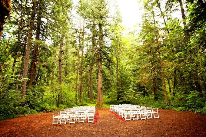 Camp colton outdoor ceremony champagne wedding event for Outdoor wedding venues portland oregon