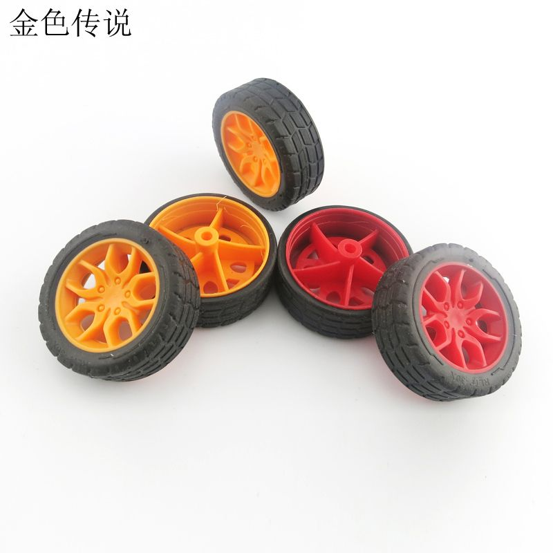 Cheap accessories collection, Buy Quality accessories brooch directly from China accessories punk Suppliers: F17665/6 JMT 2Pcs 2*30mm Red / Yellow Rubber Fine Texture Wheel Small Wheels DIY Toy Accessories for Car