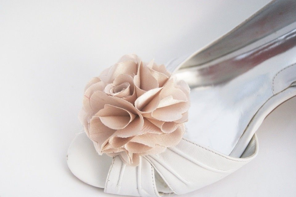 192e13ac9740c champagne shoe clips in satin. $16.00, via Etsy. | Shoes Only ...
