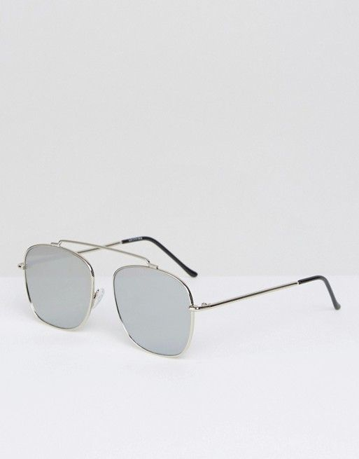 76e93ce8a056e Spitfire - Beta - Lunettes de soleil aviateur miroir - Argenté ...