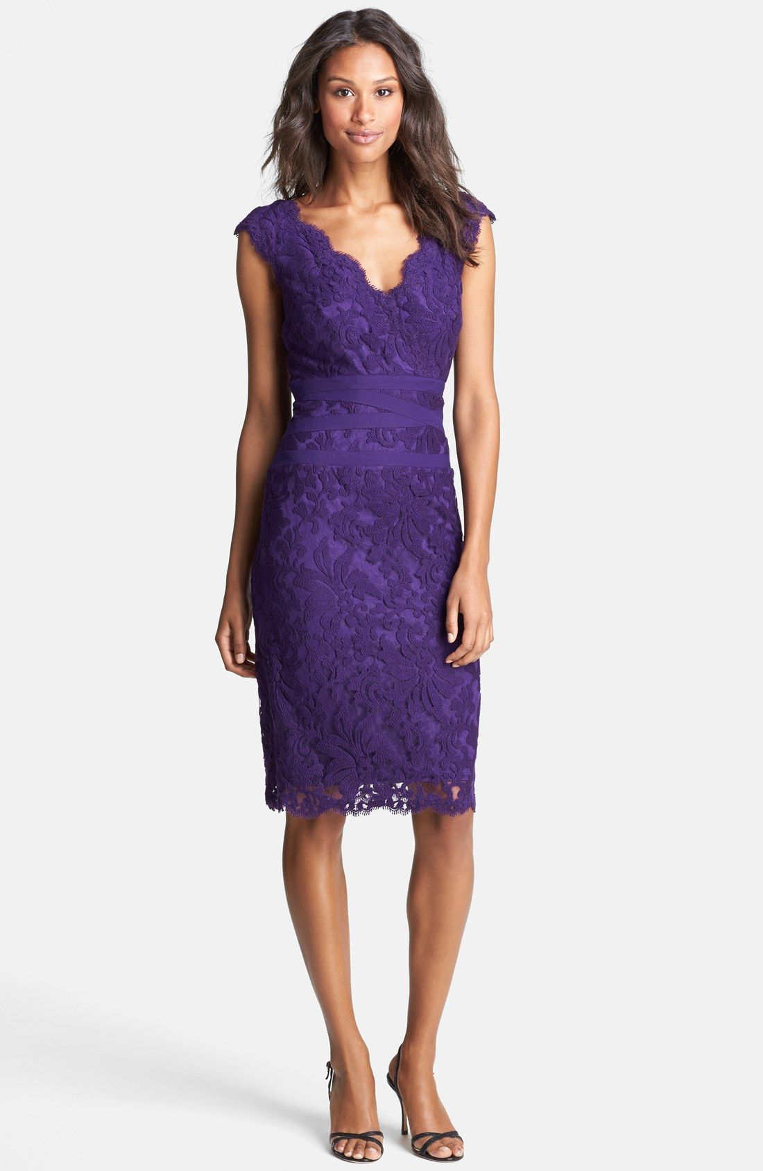 Tadashi Shoji Embroidered Lace Sheath Dress (Regular & Petite) | my ...