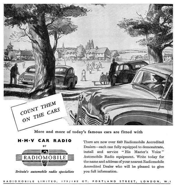 1950 hmv car radios ad cars images of world car ads recent photos the commons 20under20 galleries world map app garden gumiabroncs Images