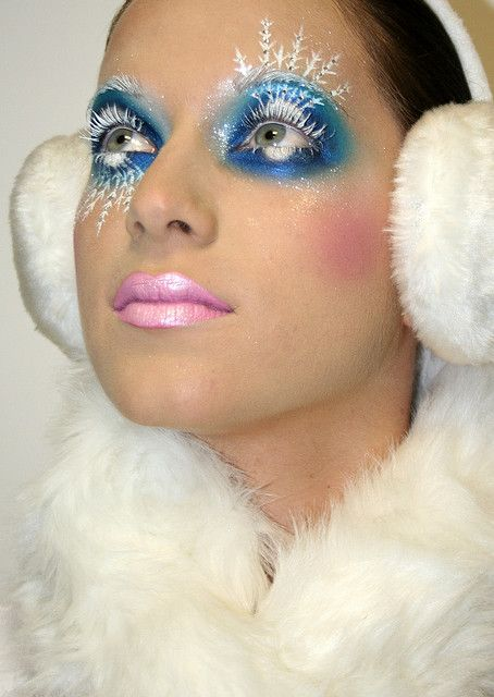 Ice Queen Colorful Version Ice Queen Makeup Creative Makeup