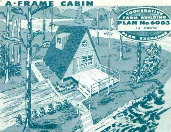 Free A Frame House Plan With Deck Usda A Frame Cabin Publication A Frame House Plans A Frame House A Frame Cabin