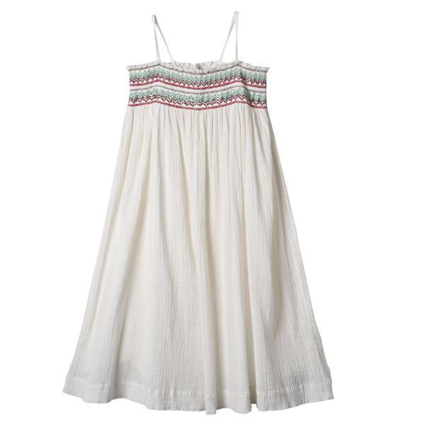 smocked sundress Bonpoint  Robe Nila Blanc lait Boutique en ligne