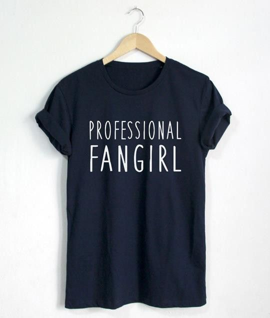 Professional fangirl womens tshirt body size gender and decoration materialcotton coloras show sizes m l xl xxl xxxl fandeluxe Image collections