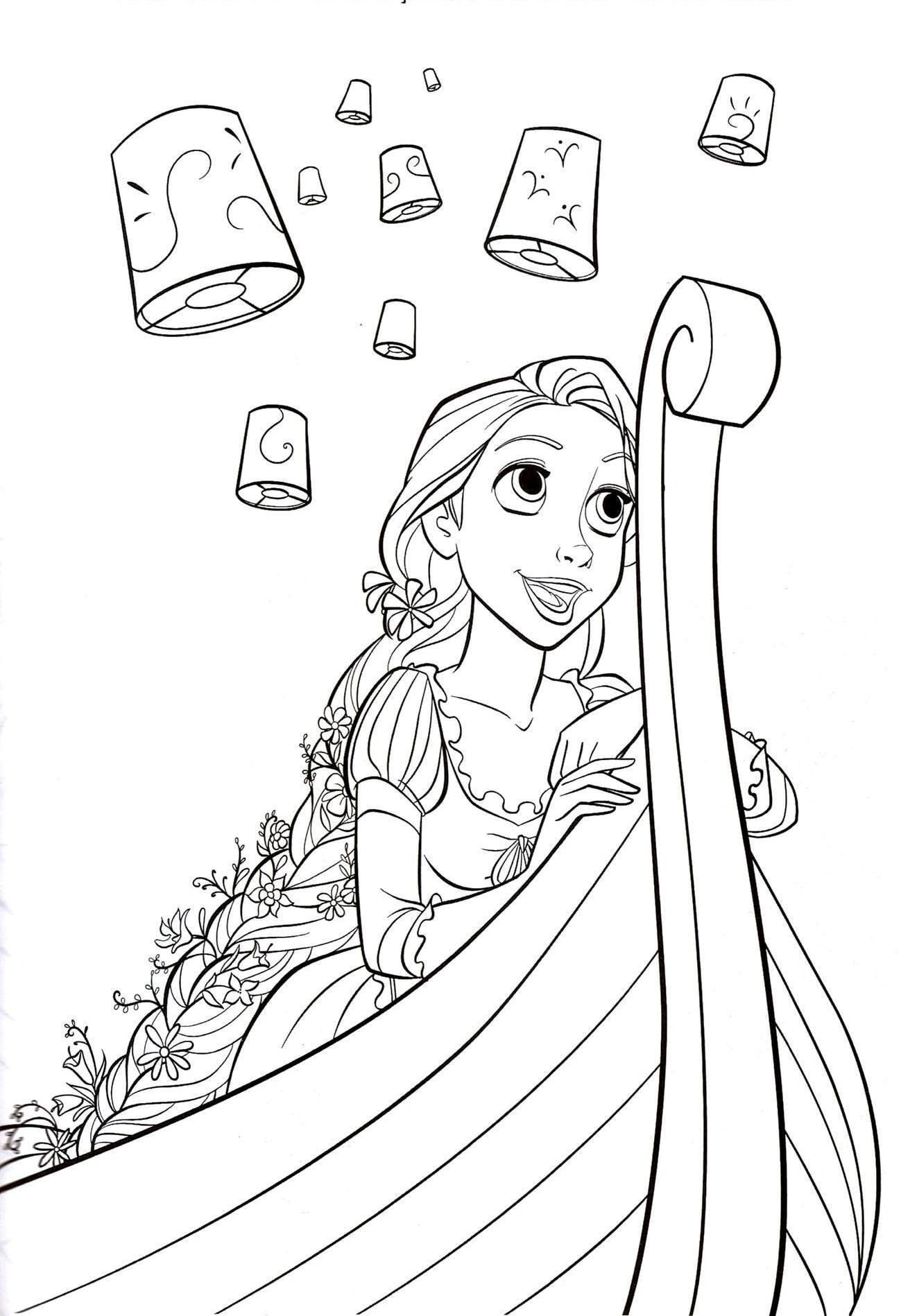 Disney Rapunzel Coloring Pages Free Printable Princess Tangled Colouring