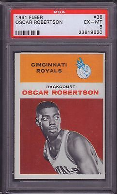 Oscar Robertson 1961 Fleer Rookie #36 RC Card PSA 6 EX-MT Royals https://t.co/z758CmypVn https://t.co/v3lkBFKsut