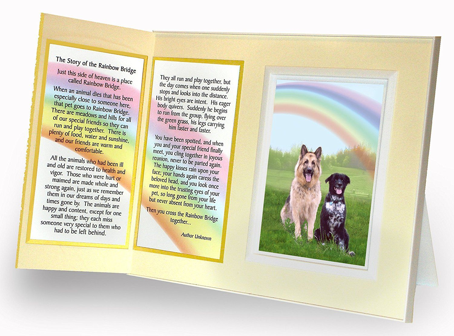 Pet lover remembrance gift rainbow bridge memorial pet loss pet lover remembrance gift rainbow bridge memorial pet loss picture frame and sympathy gift package with optional custom photo editing you can find jeuxipadfo Choice Image