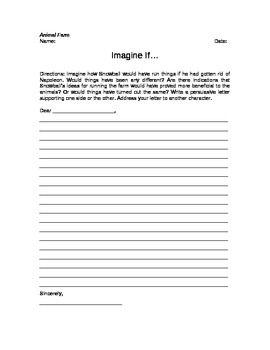 animal farm writing assignment