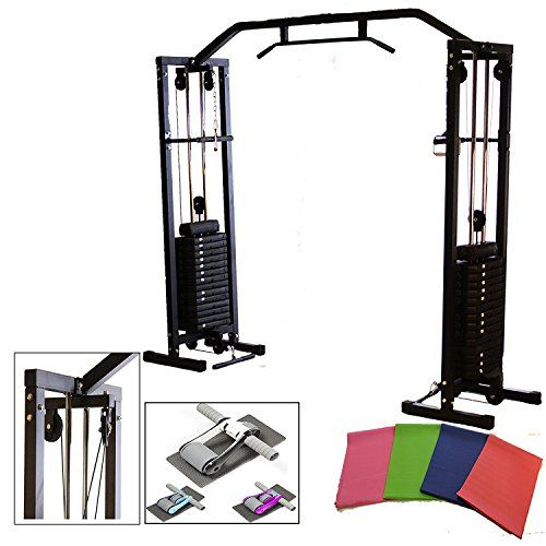 Gym Master 180kg Cable Crossover Machine With Upgraded Pulleys Pull Up Chinning Bar Choice Of Colours Uksportsoutdoors At Home Gym Home Gym Cable Crossover Machine
