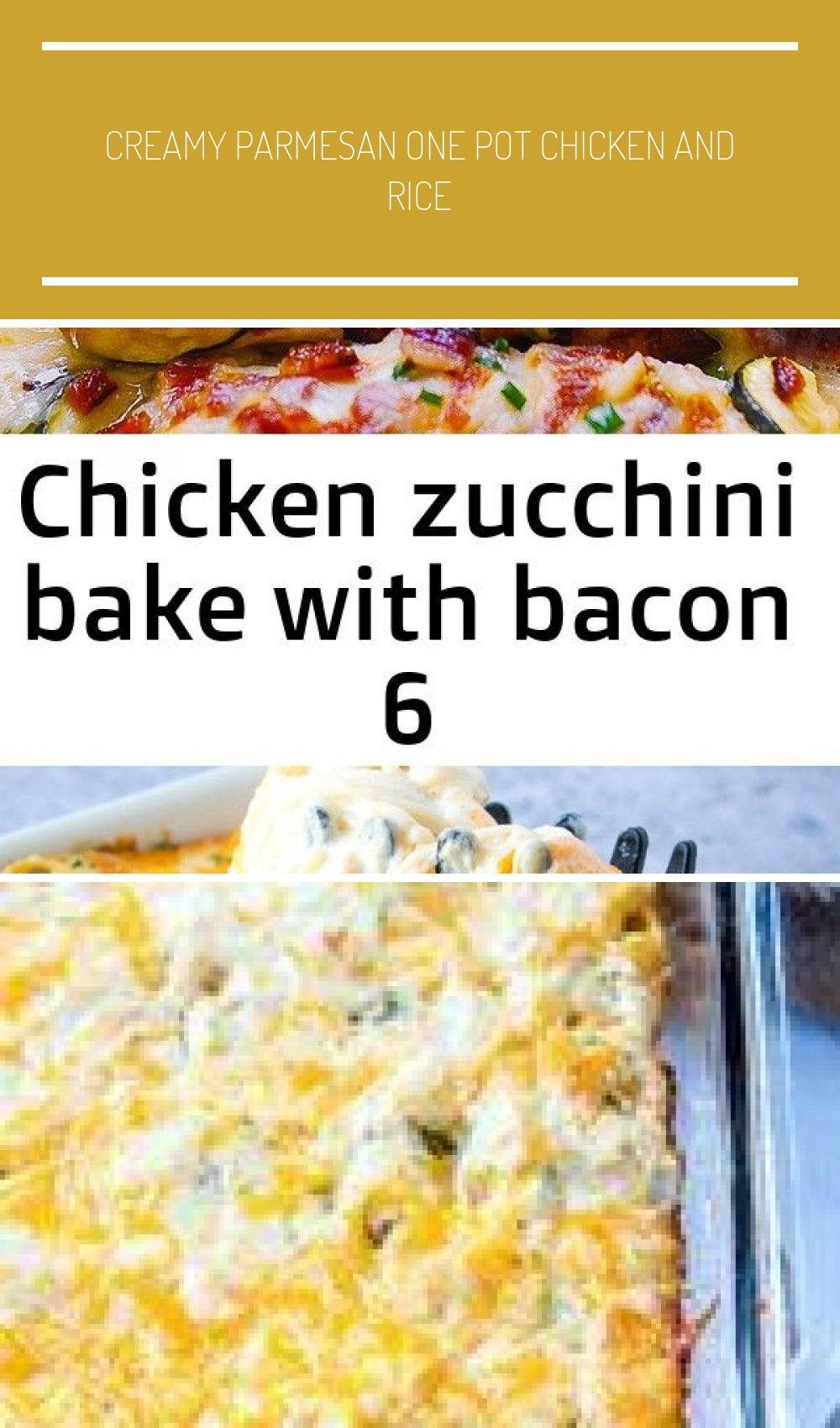 Chicken Zucchini Bake with Bacon. Low-carb, gluten free, KETO recipe Easy Chicken Tetrazzini Recip