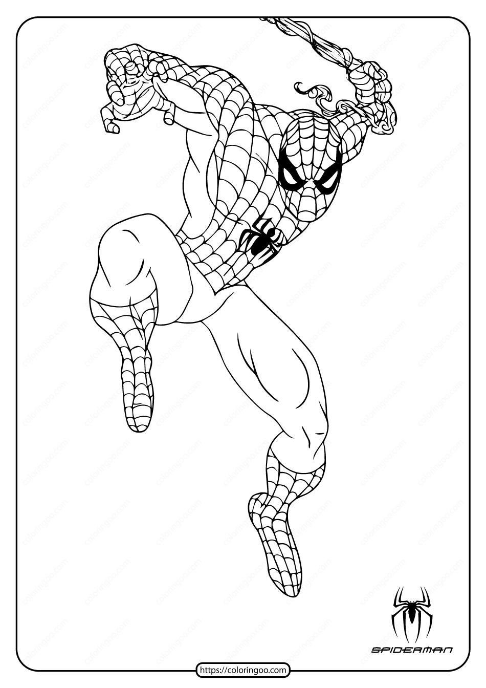 Printable Marvel Spiderman Coloring Page Superhero Coloring Pages Spiderman Coloring Coloring Pages
