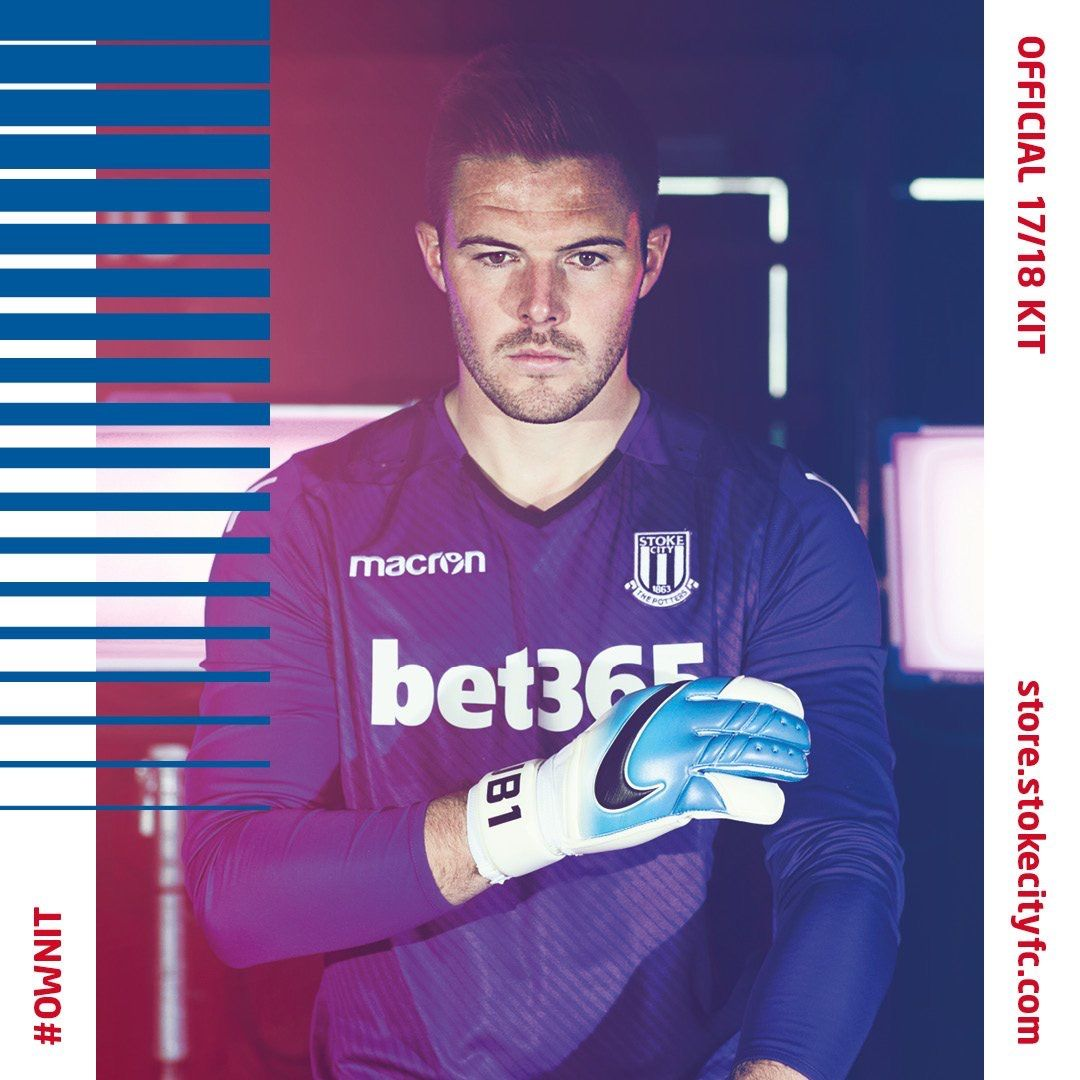 f54f7a231ee Stoke City 2017/2018 GK Home Kit | Latest Football Kits | Stoke city ...