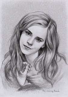 Emma Watson Karakalem Çizimleri ~ Karakalem Çizimleri - Karakalem - Anime Çiz...