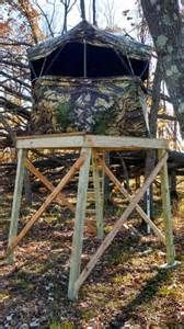 Elevated ground blind deer hunting bear elk moose for Deer ground blind plans