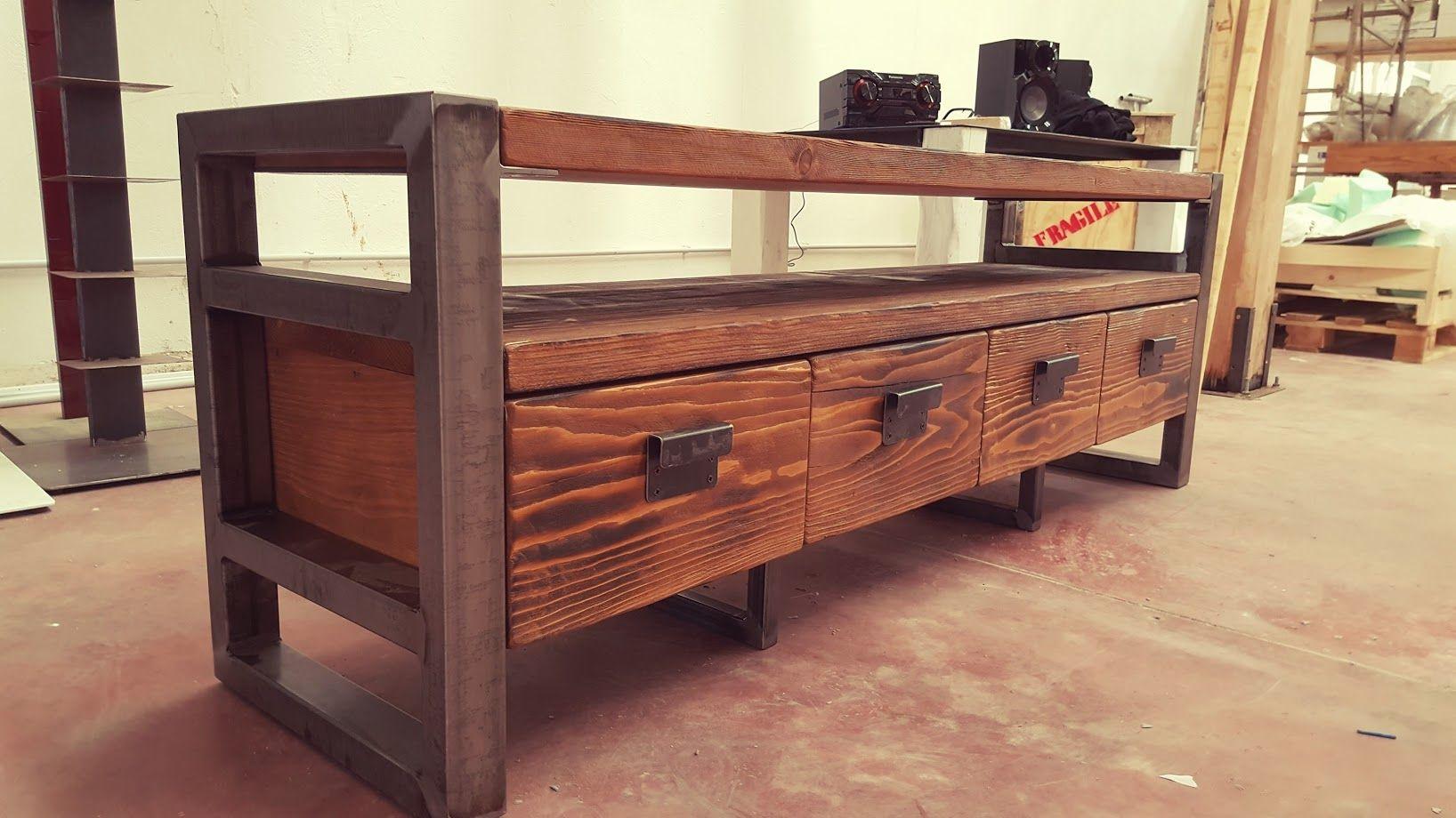 Acquista online mobile porta tv old style legno massello | mobile tv ...