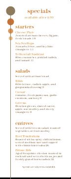 Bistro Happy Hour Menu Restaurant Graphics Menu Ideas Menu Menu