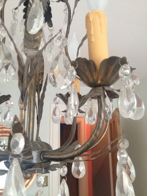 FOR SALE: Bronze and Crystal Chandelier | Covet Living
