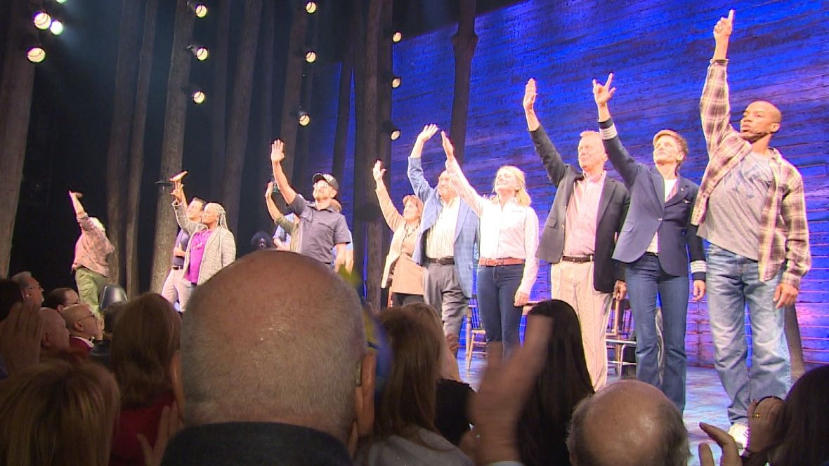 Emotional Standing Ovation As Come From Away Opens On Broadway Cbc News Come From Away Musicals Newfoundland And Labrador