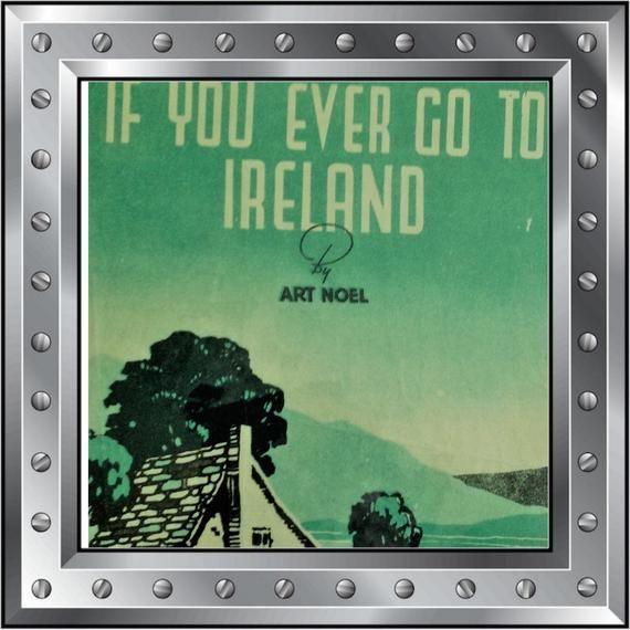 Vintage original illustrated sheet music - If you ever go to Ireland circa(1944) #vintagesheetmusic