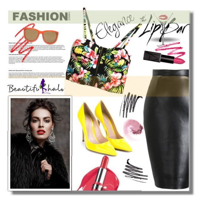 """BHALO"" by edita-n ❤ liked on Polyvore featuring The Lip Bar, Gianvito Rossi and NARS Cosmetics"
