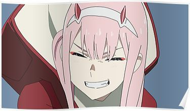 'Zero Two Smile' Poster by Liam Rogers Anime, Darling in