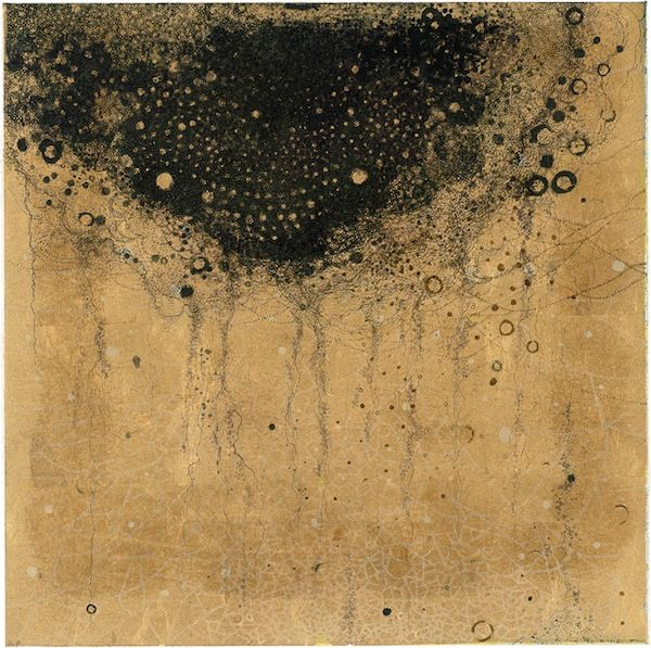 KIYOHARA Shizuko(聖原司都子 Japanese) 蜘蛛絲  spider silk  waterless lithography
