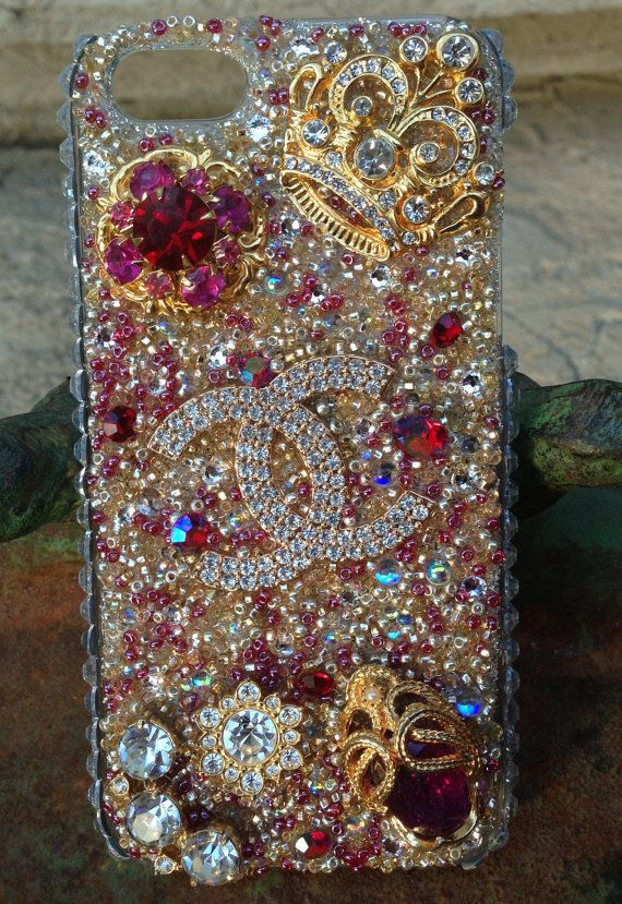 iPhone 5 Lovely Chanel Vintage Bling Case  9cd2f82861