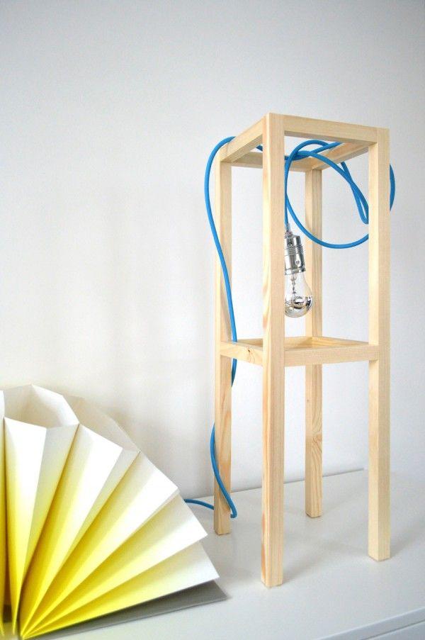 diy tischleuchte selber machen minimalampe licht an pinterest tischleuchte diy. Black Bedroom Furniture Sets. Home Design Ideas