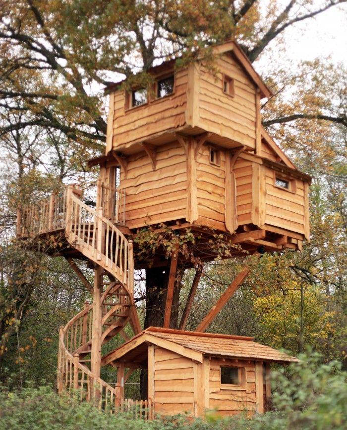 S jour insolite proche de paris aux cabanes du moulin les cabanes du moulin sont deux - Fixation cabane dans les arbres ...