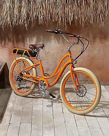 Tommy Bahama - Step-Thru Electric Bike This would be fun on the beach path