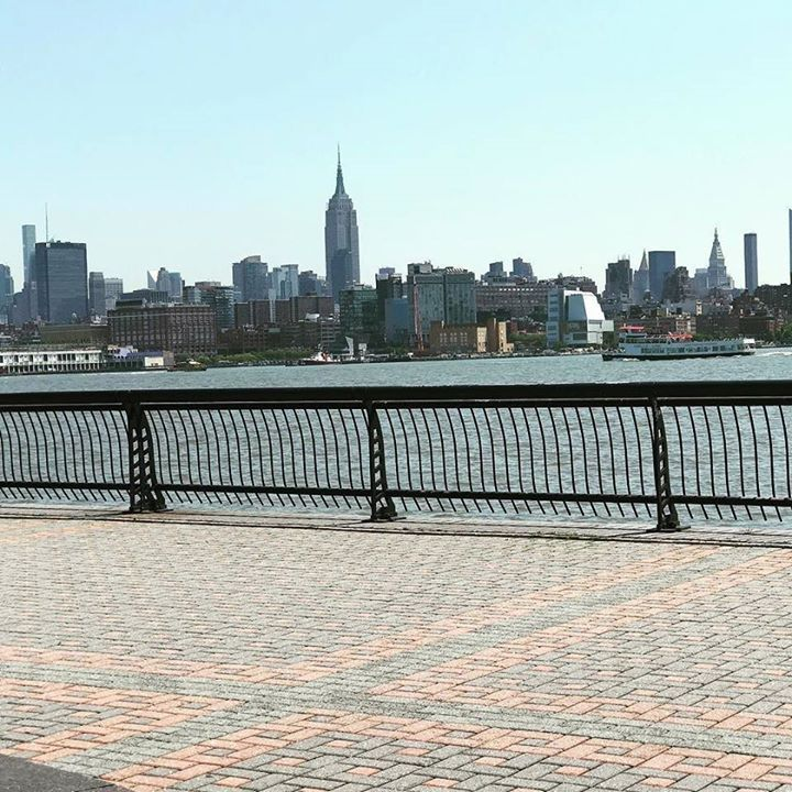 Nice day to bring the desk to the City View nyc hoboken