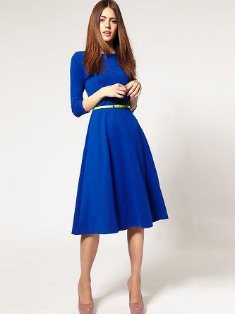 1319fe18be6e0 En Güzel Diz Altı Elbise Modelleri | My style | Elbise modelleri ...
