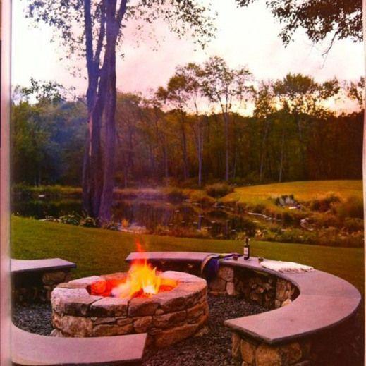 Enjoy the Fall Weather in a Fantastic Backyard #firepit # ...