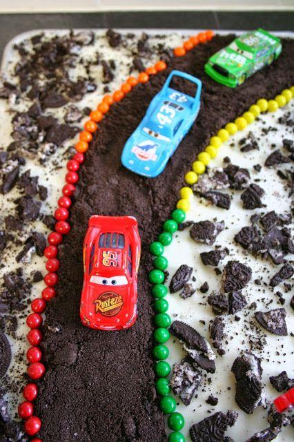Cars Birthday Cake - Cookies 'n Cream Sheet Cake