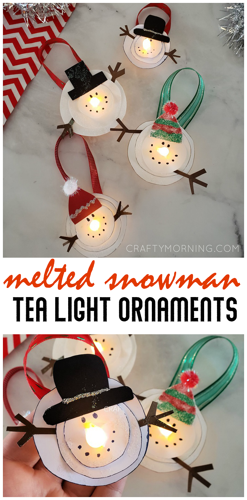 Melted Snowman Tea Light Ornaments Tea Light Crafts Snowman Crafts Diy Tea Lights Christmas