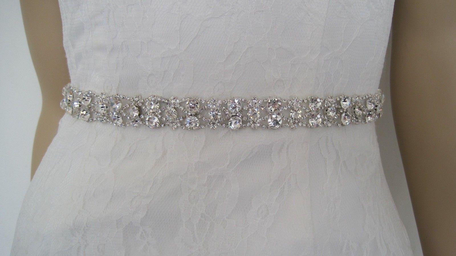 Rhinestone wedding dresses  wedding gown sashes and belts    Wedding Ideas  Pinterest