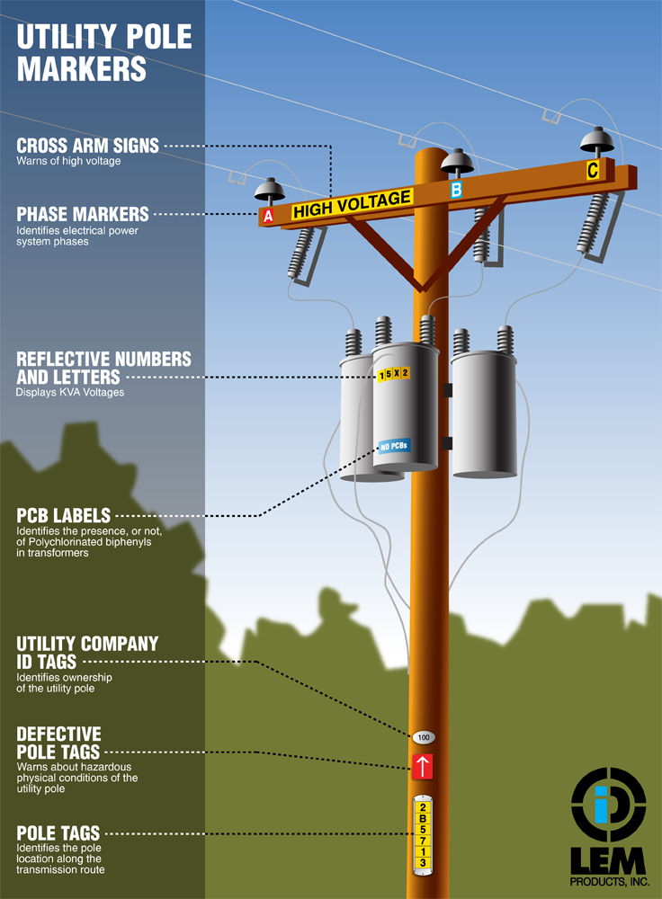 Utility Pole Marking Tags Electrical Engineering Projects Utility Pole Home Electrical Wiring