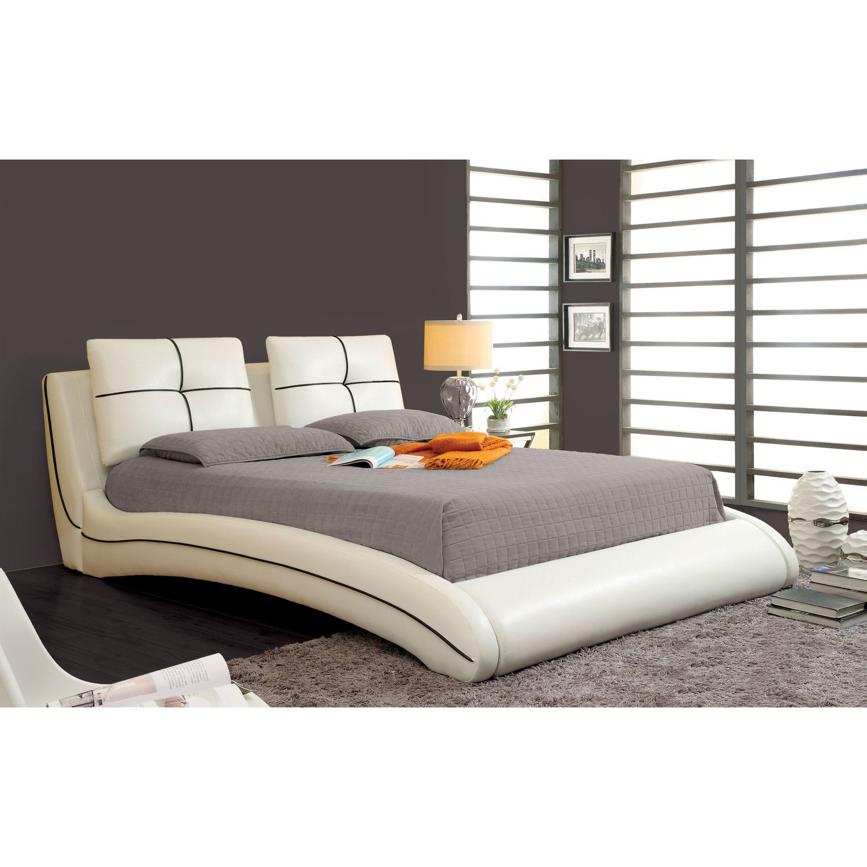 Hokku Designs Estefan Panel Bed Bed frame sets, Leather